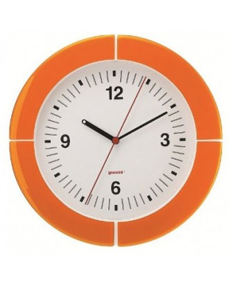 Ceas de perete i-Clock , portocaliu, 37 cm, model Tokyo - GUZZINI