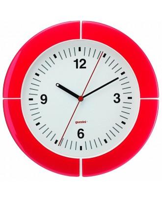 Ceas de perete i-Clock , rosu, 37 cm, model Paris - GUZZINI