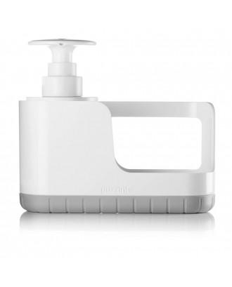 Suport de burete cu dispenser pentru lichid de vase, gri, model Sink Tidy - GUZZINI