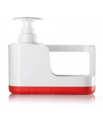 Suport de burete cu dispenser pentru lichid de vase, rosu, model Sink Tidy - GUZZINI
