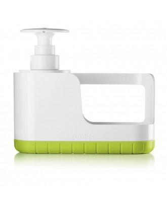 Suport de burete cu dispenser pentru lichid de vase, verde, model Sink Tidy - GUZZINI