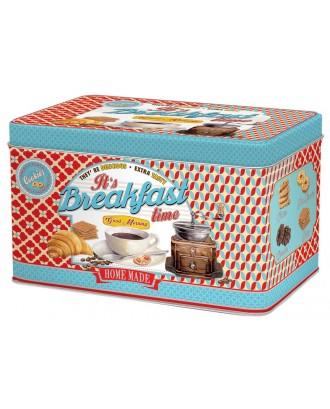 Cutie pentru biscuiti, dreptunghiulara, rosie