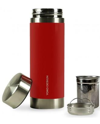 Yoko Recipient termoizolant ceainic - Rosu - 500 ml