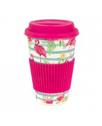 Cana Cafea Flamingo Bambus