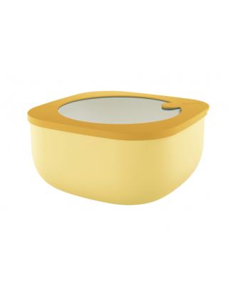 Cutie cu capac pentru depozitare, 1900 ml, galben, colectia Store&More - GUZZINI